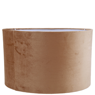 LAMP SHADE VELVET LUX E27 40X25CM TAUPE XLARGE