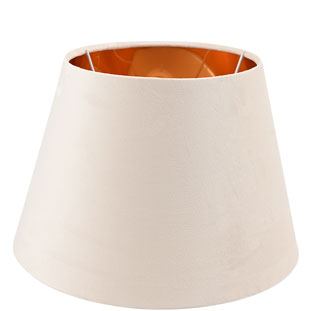 LAMP SHADE CHANTAL VELVET E14/E27 DIA 30 CM BEIGE
