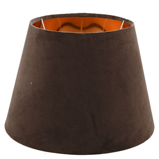 LAMP SHADE ISABELLA VELVET Ø30CM BROWN E14/E27
