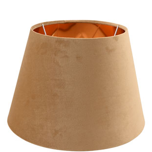 LAMP SHADE CHANTAL VELVET E14/E27 DIA 30 CM GOLD