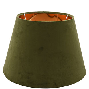 LAMP SHADE CHANTAL VELVET E14/E27 DIA 30 CM GREEN