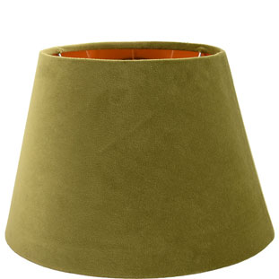 LAMP SHADE CHANTAL VELVET E14/E27 DIA 30 CM OLIVE GREEN