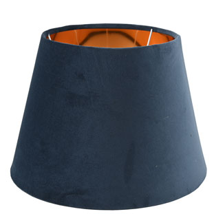 LAMP SHADE CHANTAL VELVET Ø30CM BLUE E14/E27