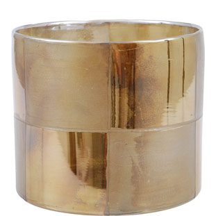 CANDLE HOLDER CHANNING LARGE GOLD