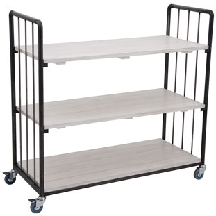 SHELF UFFE LOW WIDE WHITE