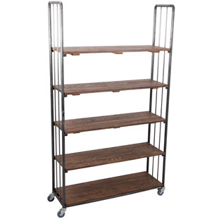 SHELF UFFE HIGH WIDE VINTAGE BROWN