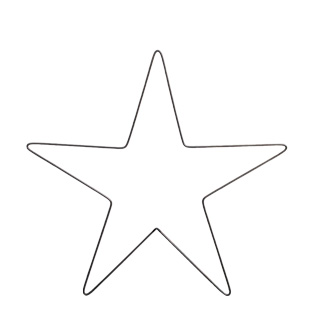DECORATION FORGED METAL STAR MEDIUM