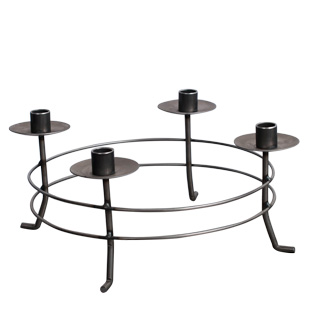 CANDLE HOLDER CIRCLE FORGED