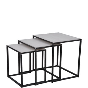 SET OF TABLES SOHO 3/SET WHITE