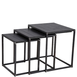 SATSBORD SOHO 3/SET BLACK
