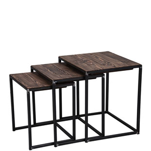 SET OF TABLES SOHO 3/SET VINTAGE BROWN
