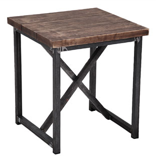 SIDE TABLE MANHATTAN VINTAGE BROWN