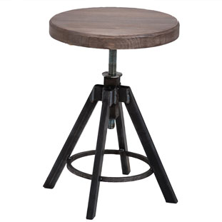 STOOL HELLS KITCHEN VINTAGE GREY