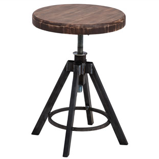 STOOL HELLS KITCHEN VINTAGE BROWN