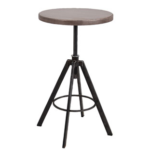BAR TABLE HELLS KITCHEN VINTAGE GREY
