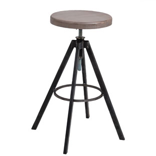 BAR STOOL HELLS KITCHEN VINTAGE GREY