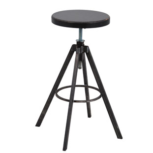 BAR STOOL HELLS KITCHEN BLACK