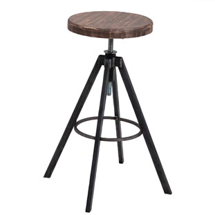 BAR STOOL HELLS KITCHEN VINTAGE BROWN