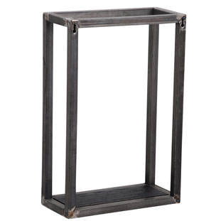 WALL SHELF SQUARE 2 BLACK