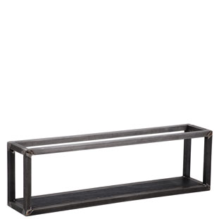 WALL SHELF SQUARE 3 BLACK