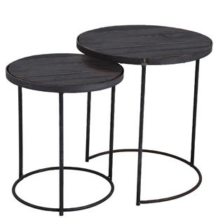 SIDE TABLE LA CUISINE SET OF 2 BLACK