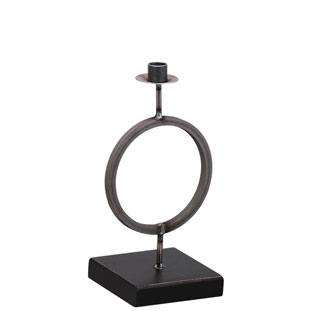 CANDLE HOLDER CIRCLE SMALL BLACK
