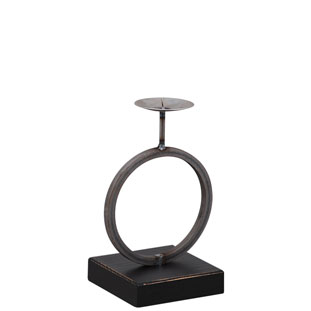 CANDLE HOLDER ROUND BLACK