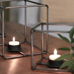 CANDLE HOLDER CAGE LOW SMALL