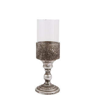 CANDLE HOLDER LYSSA SMALL SILVER