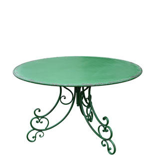 TABLE ISABELLE Ø120CM GREEN