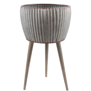 METAL POT PHILIP GREY LARGE