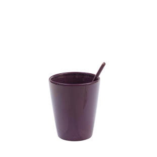 MUG WITH SPOON LARGE PURPLE
