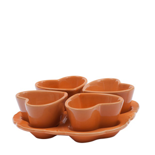 OVENWARE HEARTS ON TRAY ORANGE