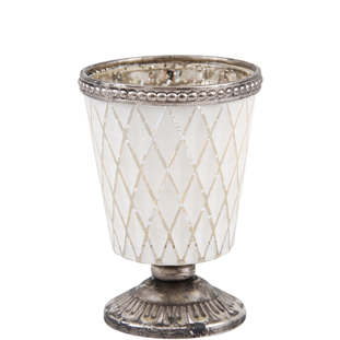 CANDLE HOLDER CADEN WHITE
