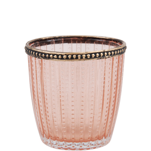CANDLE HOLDER SAVILLE PINK LARGE