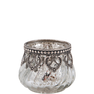 CANDLE HOLDER TRISH CLEAR