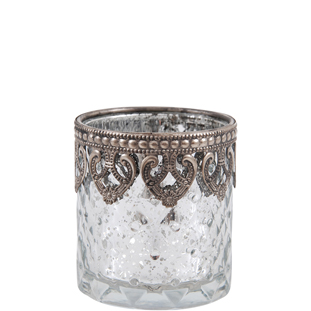 CANDLE HOLDER TRITON CLEAR