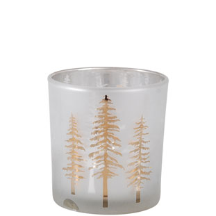 CANDLE HOLDER WOODY SMALL GOLD