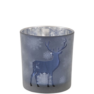 CANDLE HOLDER CERF SMALL BLUE