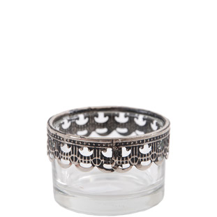 CANDLE HOLDER SILVER BRODD