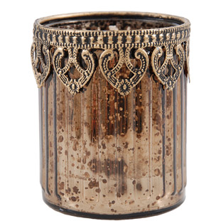 CANDLE HOLDER BRONZE