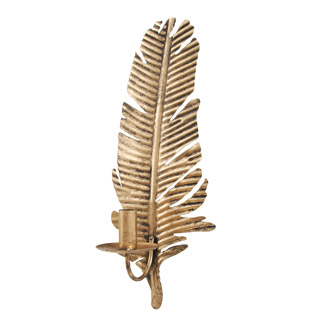 CANDLEHOLDER GOLDEN FEATHER