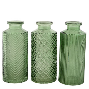 VASE AMADEO 3ASS GREEN