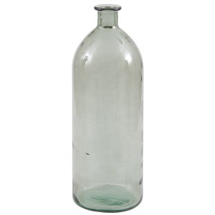 RECYCLED VASE BOTTLE  H40CM GREEN