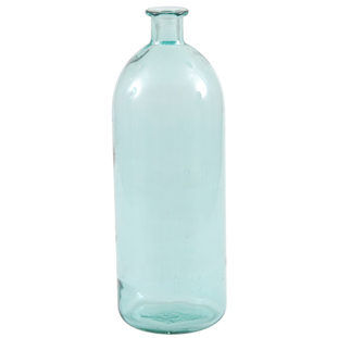 RECYCLED VASE BOTTLE H40CM TURQUOISE