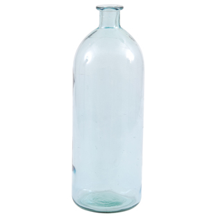 RECYCLED VASE BOTTLE  H40CM BLUE