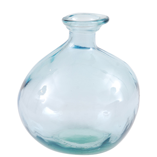 RECYCLED VASE BUBBLES H18,5CM BLUE