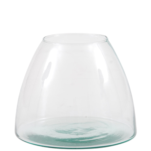 RECYCLED VASE CAPULA CLEAR SMALL