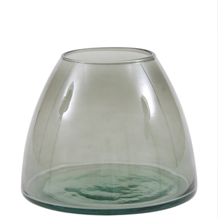 RECYCLED VASE CAPULA  GREEN SMALL