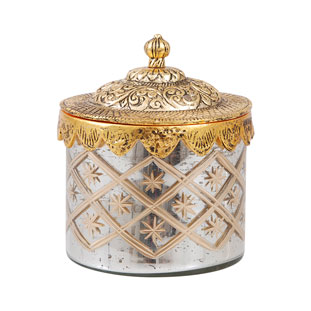 GLASS JAR GOLDEN LID SMALL
